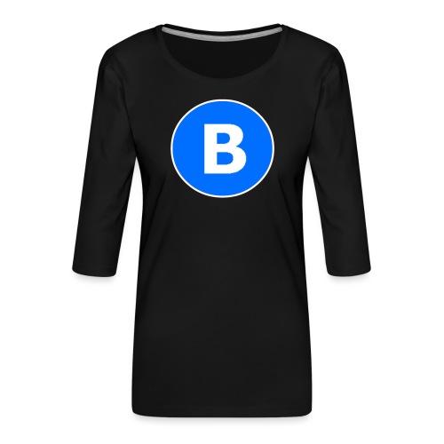 BluePrison - Dame Premium shirt med 3/4-ærmer