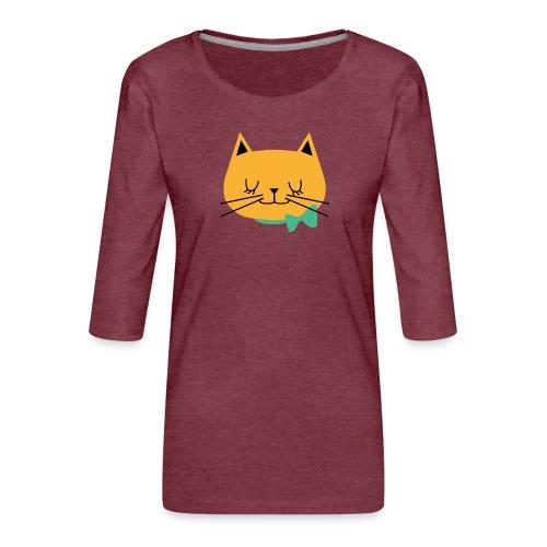 cat - T-shirt Premium manches 3/4 Femme