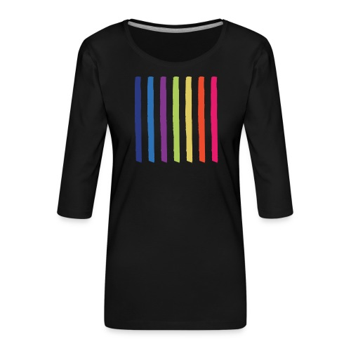 Linjer - Dame Premium shirt med 3/4-ærmer