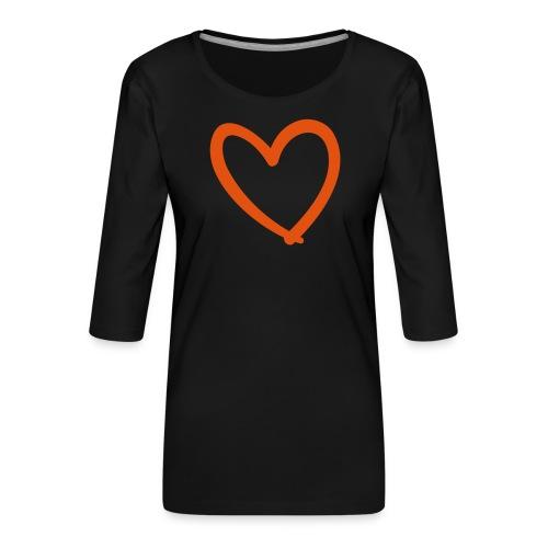 Heart Lines Pixellamb - Frauen Premium 3/4-Arm Shirt