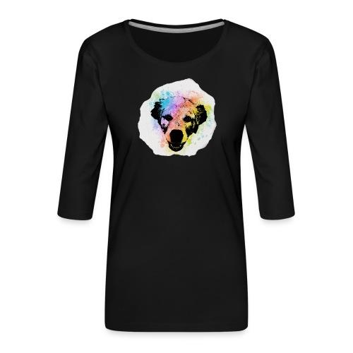 Golden Retriever Aquarell - Frauen Premium 3/4-Arm Shirt