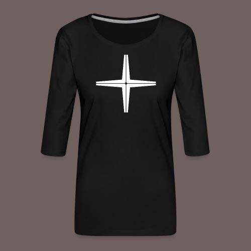 GBIGBO zjebeezjeboo - Rocher - Place au milieu - T-shirt Premium manches 3/4 Femme
