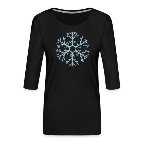 schneeflocke-hellblau-ver - Frauen Premium 3/4-Arm Shirt