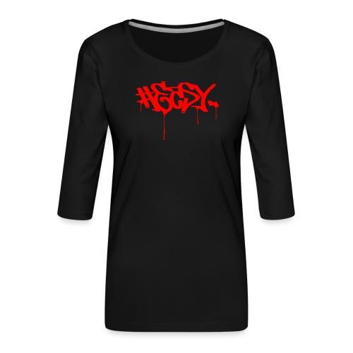 #EASY Graffiti Logo T-Shirt - Maglietta da donna premium con manica a 3/4