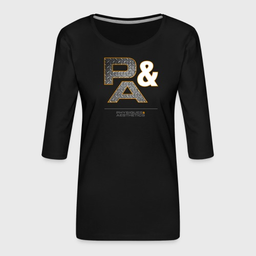 P&A - Camiseta premium de manga 3/4 para mujer