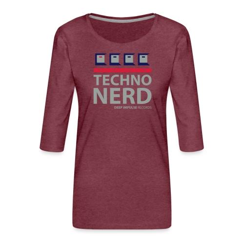 Techno Nerd - Women's Premium 3/4-Sleeve T-Shirt
