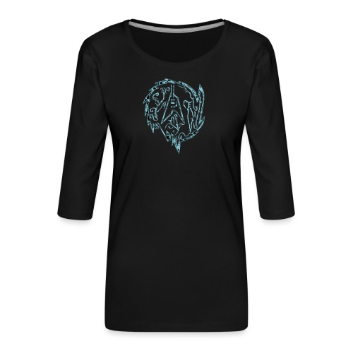 Flying-V-Guitar in thorns - Frauen Premium 3/4-Arm Shirt