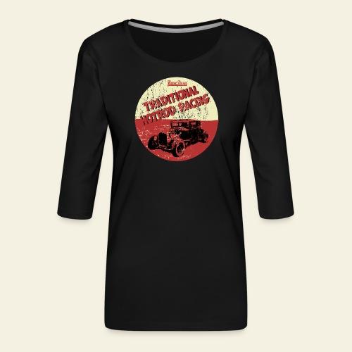 hotrod racing logo - Dame Premium shirt med 3/4-ærmer