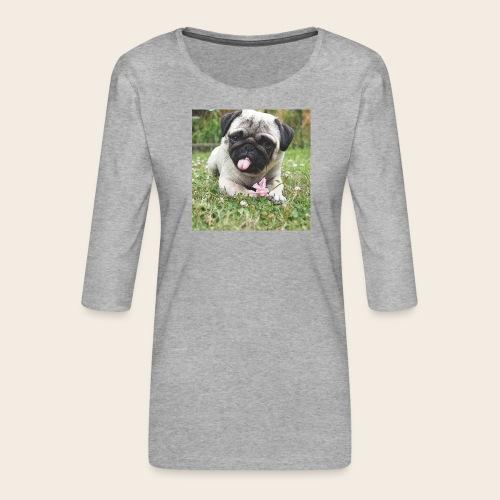 Mops Wiese - Frauen Premium 3/4-Arm Shirt