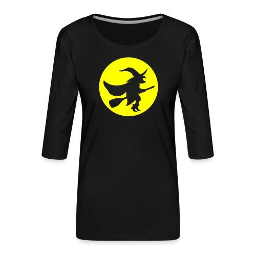 hexe_1farbig - Frauen Premium 3/4-Arm Shirt