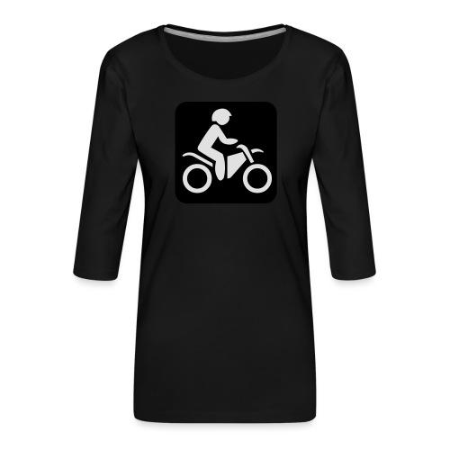 motorcycle - Naisten premium 3/4-hihainen paita