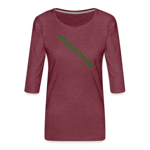 geen stress gif - Vrouwen premium shirt 3/4-mouw