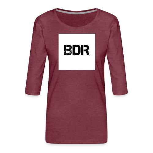 3000x3000BDR jpg - Vrouwen premium shirt 3/4-mouw