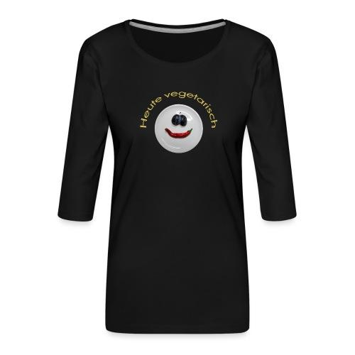 TIAN GREEN - Heute Vegetarisch - Frauen Premium 3/4-Arm Shirt