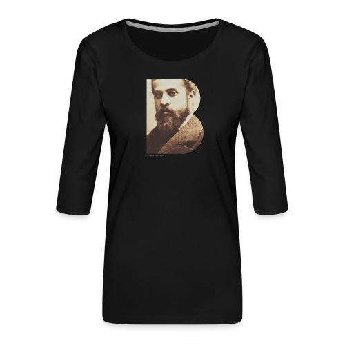 BT_GAUDI_ILLUSTRATOR - Women's Premium 3/4-Sleeve T-Shirt