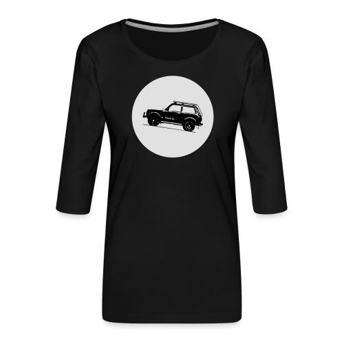 Lada Niva Kreis - Frauen Premium 3/4-Arm Shirt