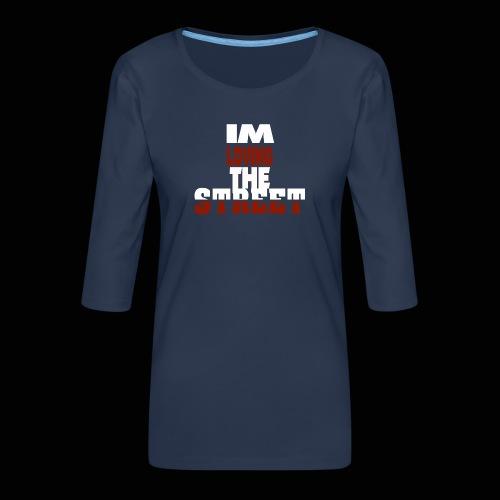 IMLOVINGTHESTREET - Dame Premium shirt med 3/4-ærmer