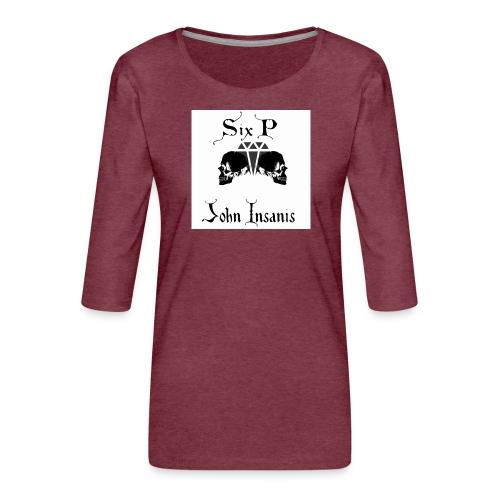 Six P & John Insanis New T-Paita - Naisten premium 3/4-hihainen paita