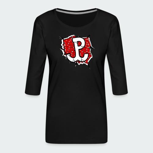 Damska Koszulka Patriotyczna Premium - Koszulka damska Premium z rękawem 3/4