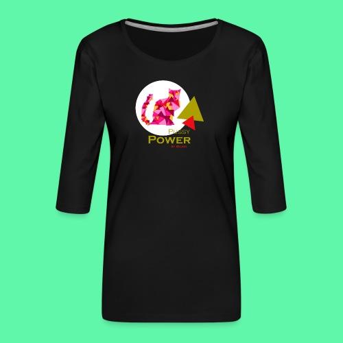 Pussy Power - Dame Premium shirt med 3/4-ærmer