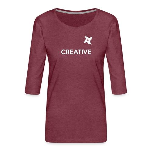 Creative long urban shirt - Dame Premium shirt med 3/4-ærmer