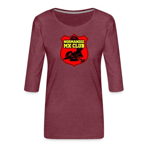 Casquette Normandie MX Club - T-shirt Premium manches 3/4 Femme