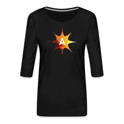 Sunshine Hoodie White - Koszulka damska Premium z rękawem 3/4