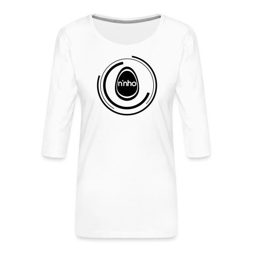 ninho-circle - Maglietta da donna premium con manica a 3/4