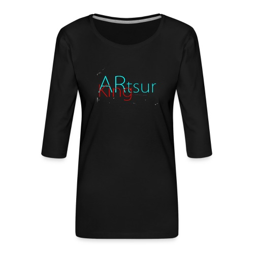 ARtsurKing Logo - Women's Premium 3/4-Sleeve T-Shirt
