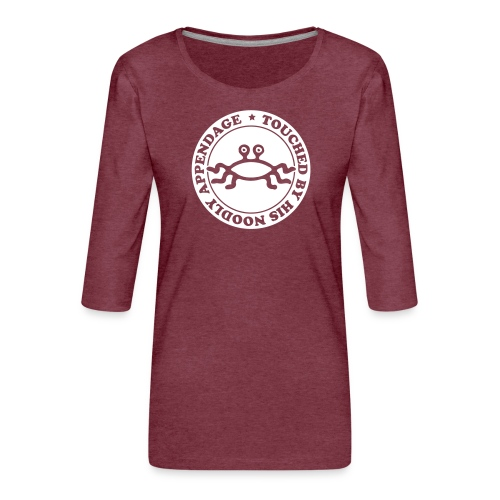 Touched by His Noodly Appendage - Women's Premium 3/4-Sleeve T-Shirt