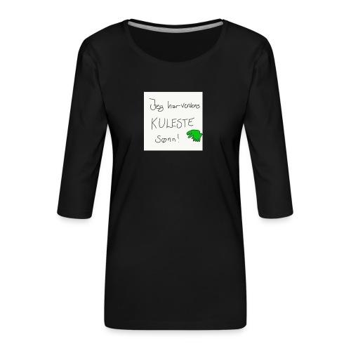 Kul sønn - Premium T-skjorte med 3/4 erme for kvinner