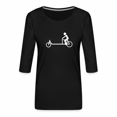 Biporteur - T-shirt Premium manches 3/4 Femme
