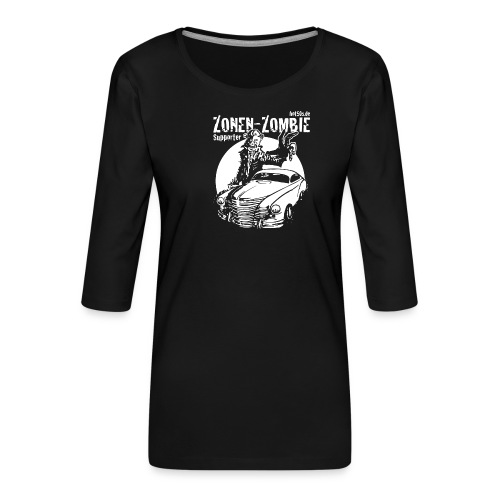 Zonen Zombie Supporter Shirt - Frauen Premium 3/4-Arm Shirt