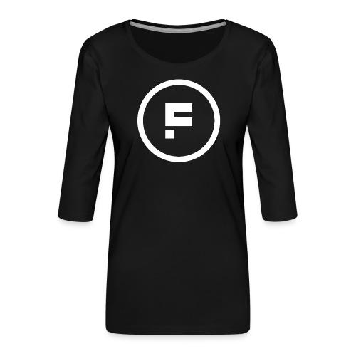 Logo Rond Wit Fotoclub - Vrouwen premium shirt 3/4-mouw