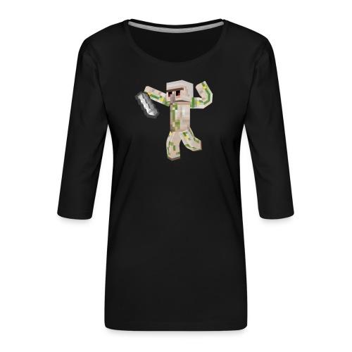 Starka GolemGamingYT - Premium-T-shirt med 3/4-ärm dam