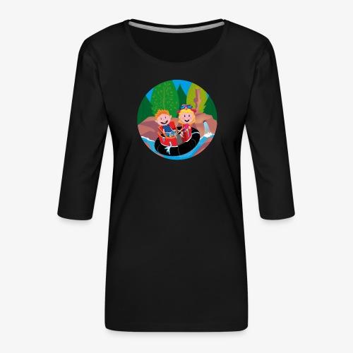 Themepark: Rapids - Vrouwen premium shirt 3/4-mouw
