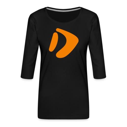 Logo D Orange DomesSport - Frauen Premium 3/4-Arm Shirt