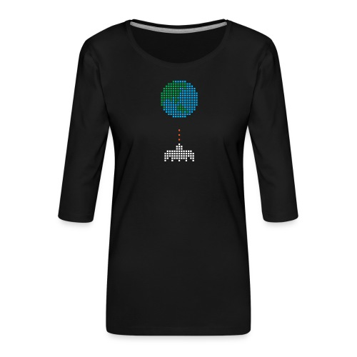 Earth Invaders - Frauen Premium 3/4-Arm Shirt
