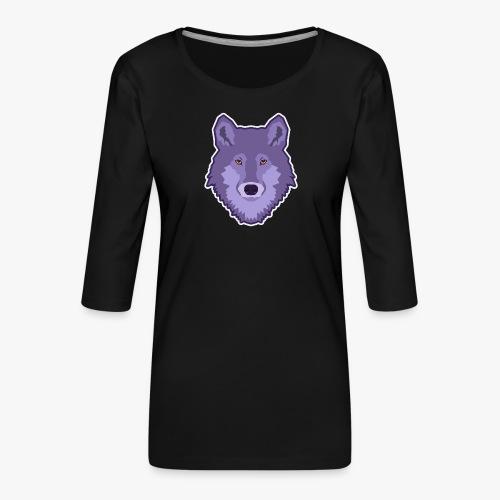 Spirit Wolf - Dame Premium shirt med 3/4-ærmer