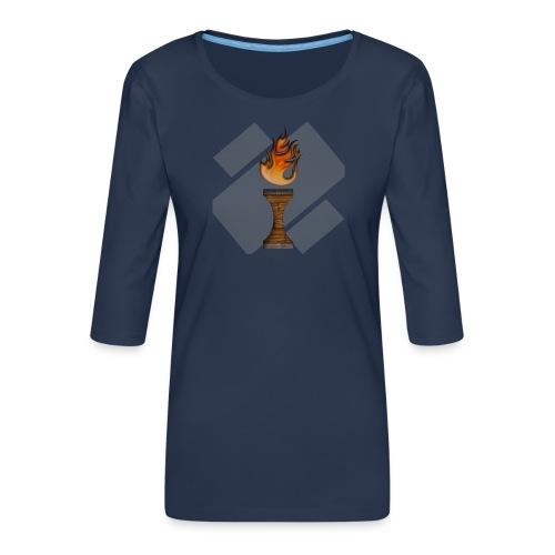 La Flamme de La Ilteam ! - T-shirt Premium manches 3/4 Femme