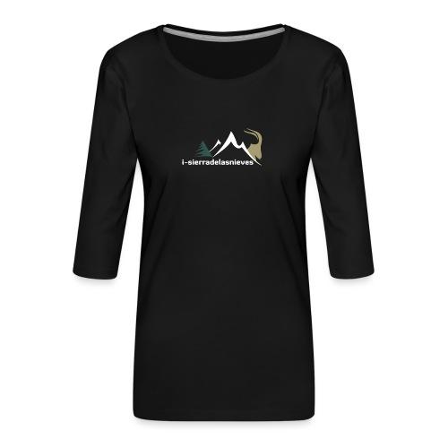 i-sierradelasnieves.com - Camiseta premium de manga 3/4 para mujer