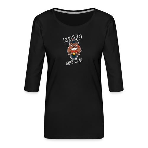 moto argente - T-shirt Premium manches 3/4 Femme