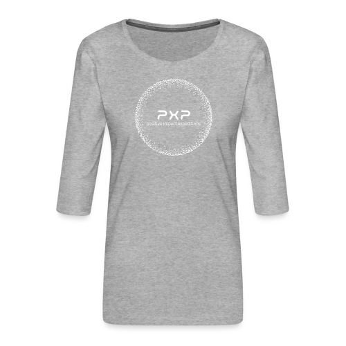 white logo transparent 2x - Women's Premium 3/4-Sleeve T-Shirt