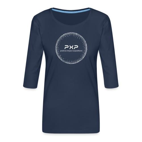 white logo transparent 2x - Women's Premium 3/4-Sleeve T-Shirt