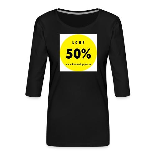 knapp 50 3 - Premium-T-shirt med 3/4-ärm dam