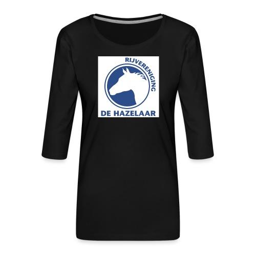 LgHazelaarPantoneReflexBl - Vrouwen premium shirt 3/4-mouw