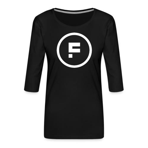 Logo_Rond_3500x3500 - Vrouwen premium shirt 3/4-mouw