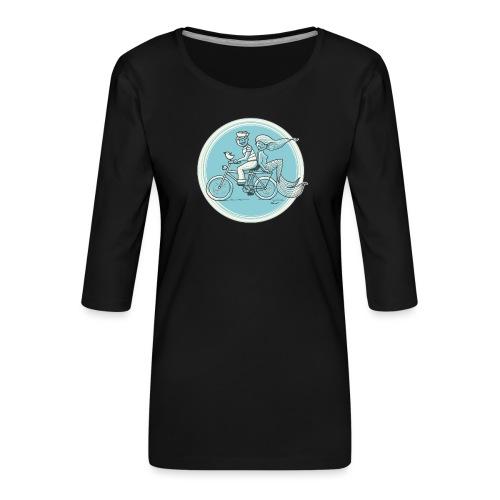 To the Beach - Backround - Frauen Premium 3/4-Arm Shirt