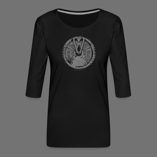 Maschinentelegraph (gray oldstyle) - Women's Premium 3/4-Sleeve T-Shirt
