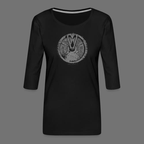 Maschinentelegraph (grey oldstyle) - Frauen Premium 3/4-Arm Shirt